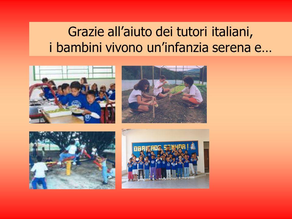 Grazie all'aiuto dei tutori italiani,