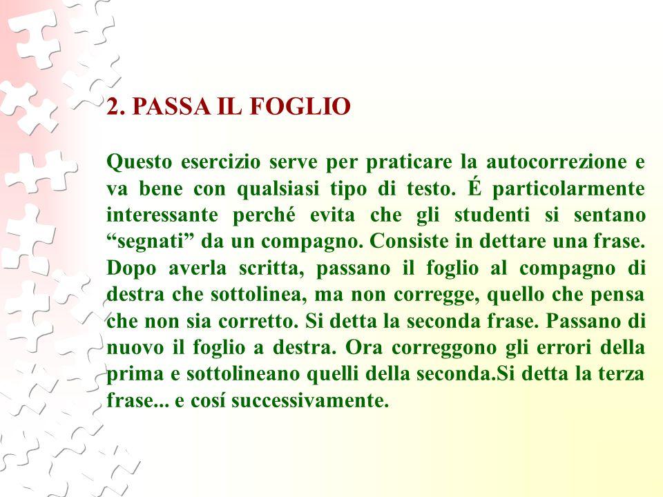 2. PASSA IL FOGLIO