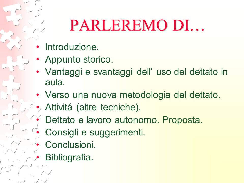 PARLEREMO DI… Introduzione. Appunto storico.