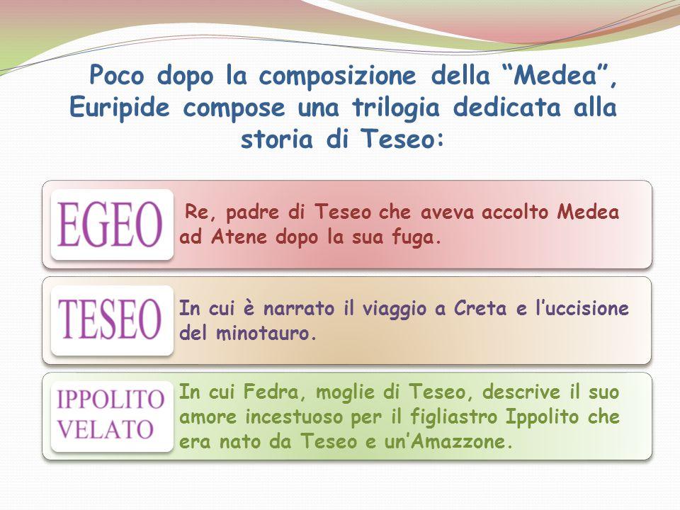 Poco dopo la composizione della Medea , Euripide compose una trilogia dedicata alla storia di Teseo: