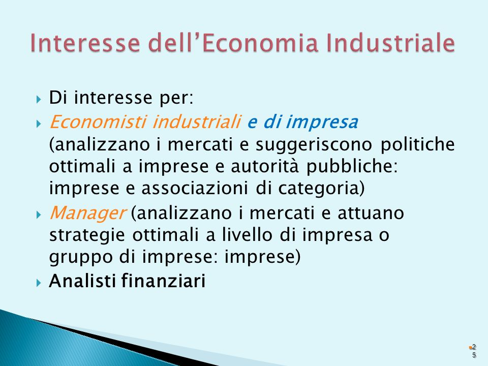 Interesse dell'Economia Industriale