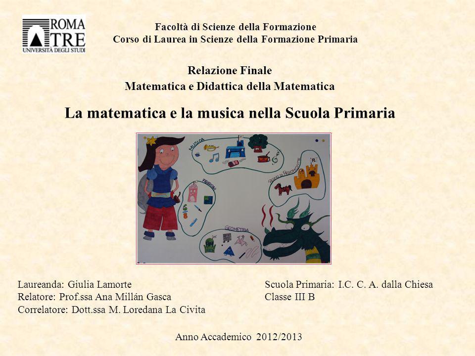 La matematica e la musica nella Scuola Primaria
