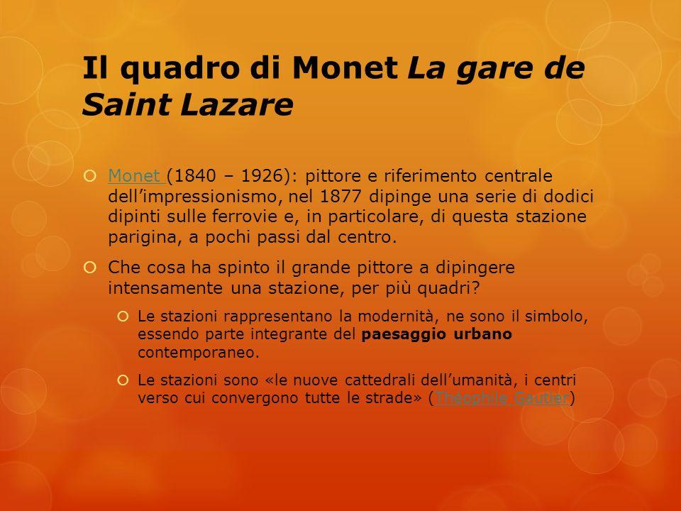 Il quadro di Monet La gare de Saint Lazare