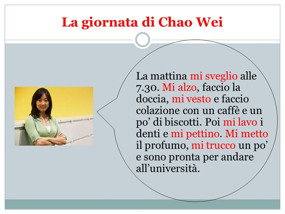 La giornata di Chao Wei