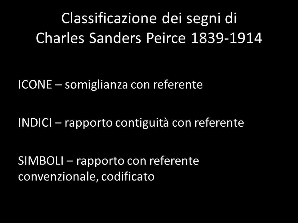 Classificazione dei segni di Charles Sanders Peirce 1839-1914