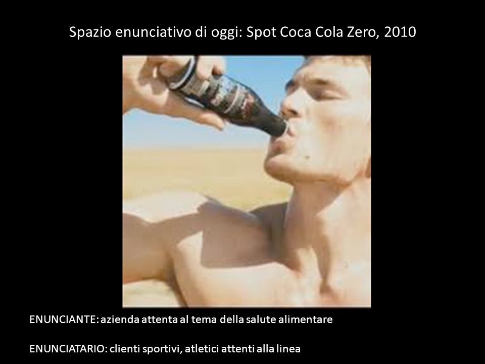 Spazio enunciativo di oggi: Spot Coca Cola Zero, 2010