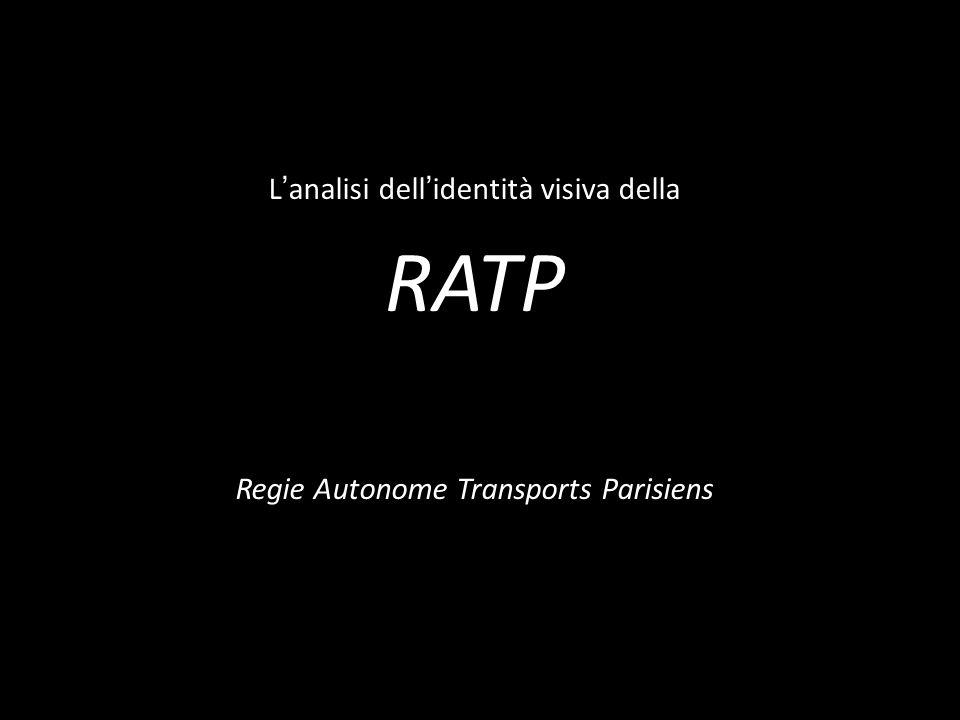 RATP L'analisi dell'identità visiva della