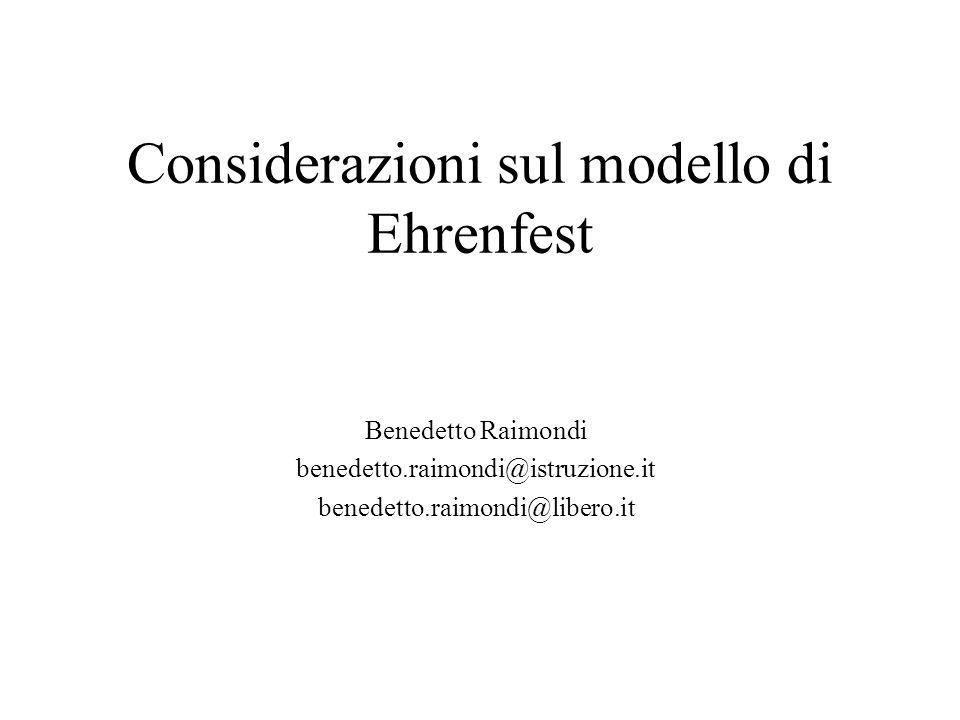 Considerazioni sul modello di Ehrenfest