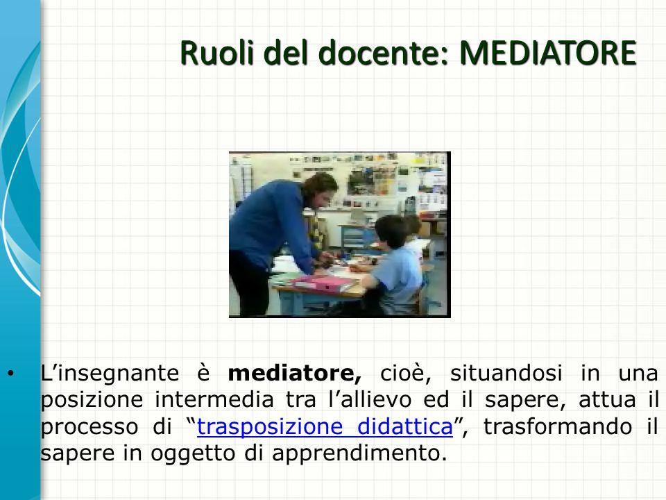 Ruoli del docente: MEDIATORE