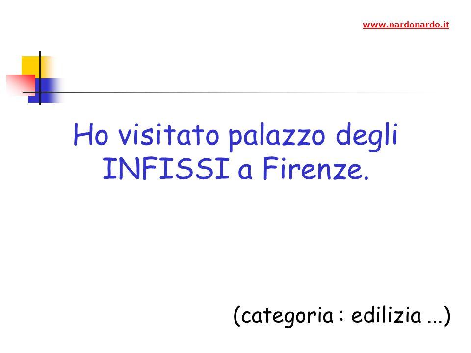 Ho visitato palazzo degli INFISSI a Firenze.