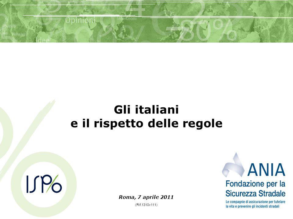Gli italiani e il rispetto delle regole