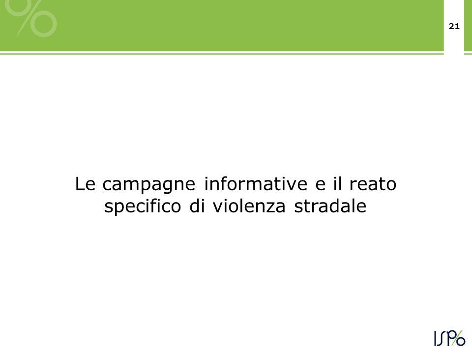 Le campagne informative e il reato specifico di violenza stradale