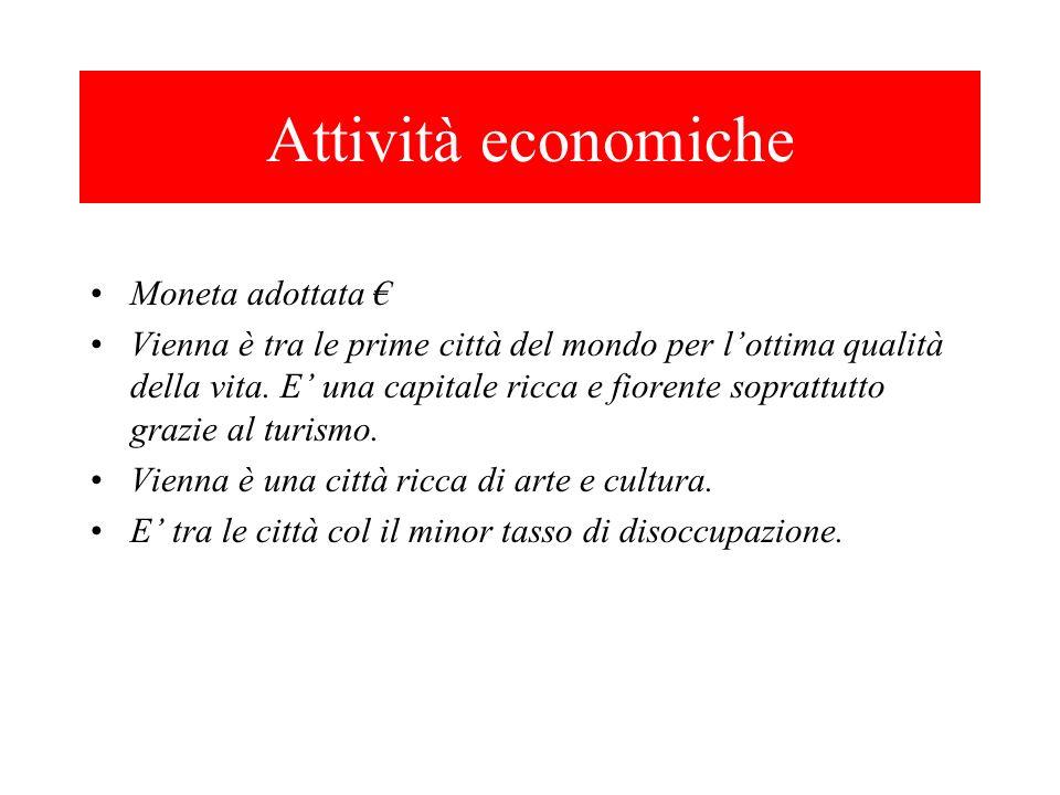 Attività economiche Moneta adottata €
