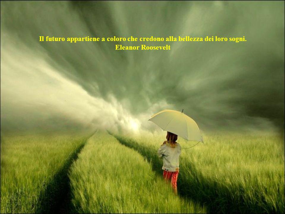 Il futuro appartiene a coloro che credono alla bellezza dei loro sogni.
