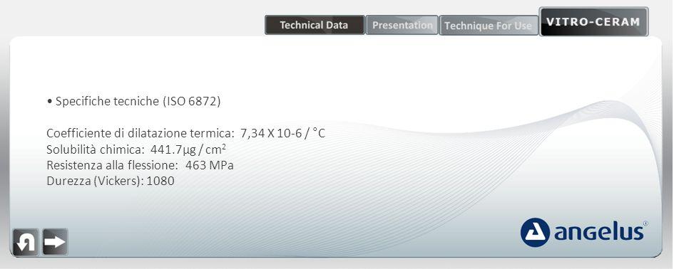Specifiche tecniche (ISO 6872)