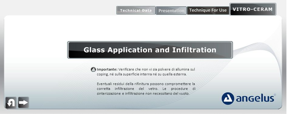 glass application and infiltration