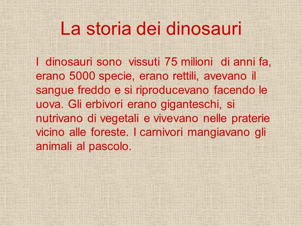 La storia dei dinosauri