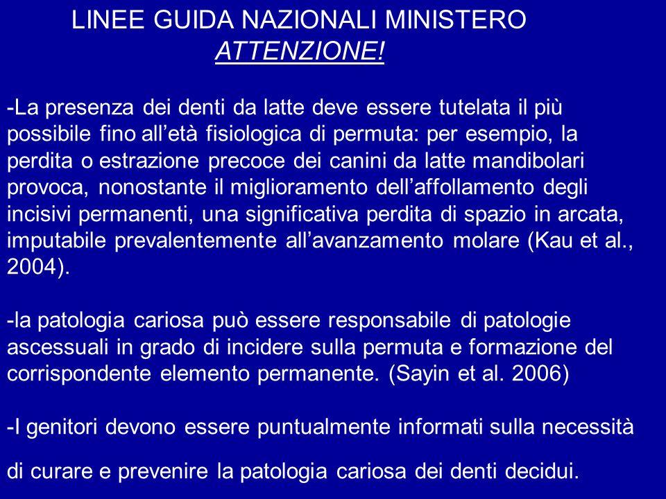 LINEE GUIDA NAZIONALI MINISTERO ATTENZIONE!