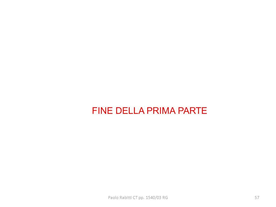 FINE DELLA PRIMA PARTE Paolo Rabitti CT pp. 1540/03 RG 57