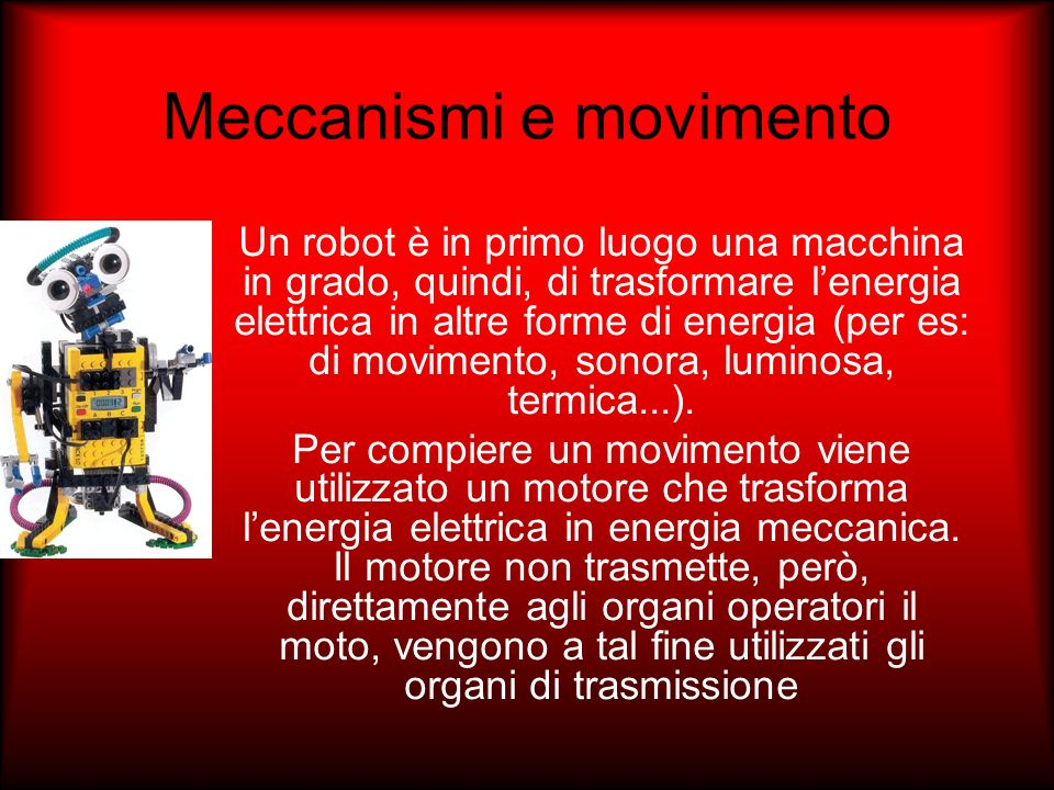 Meccanismi e movimento