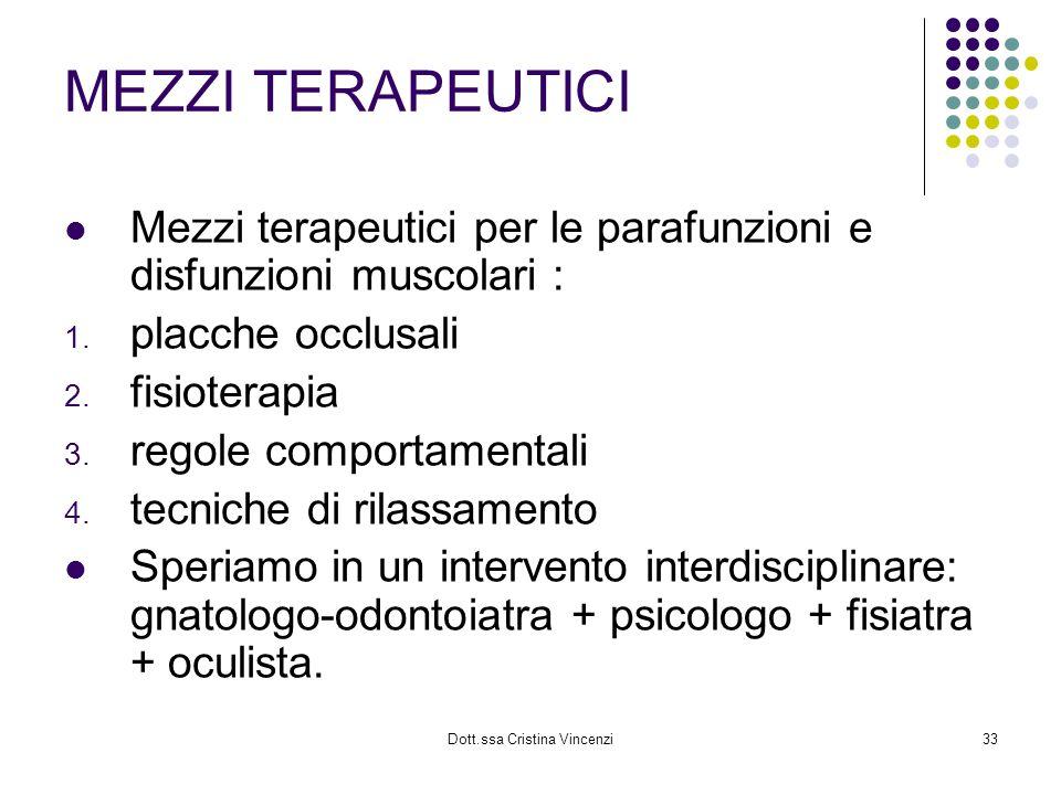 Dott.ssa Cristina Vincenzi