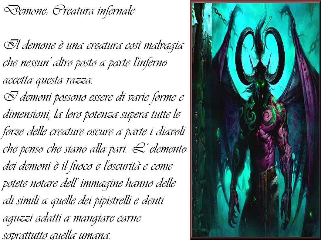 Demone: Creatura infernale