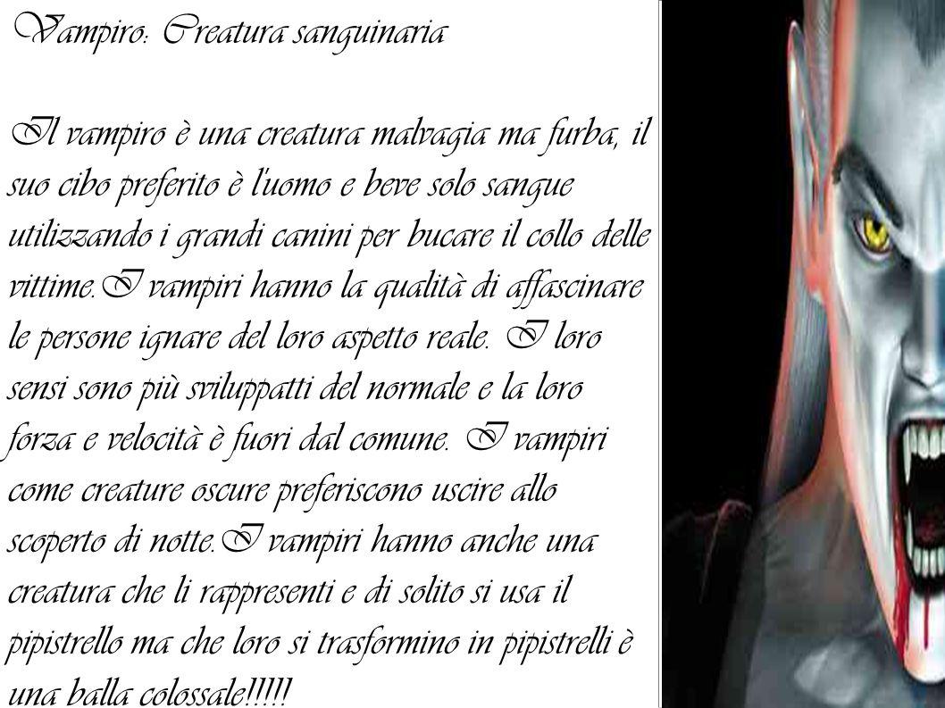 Vampiro: Creatura sanguinaria