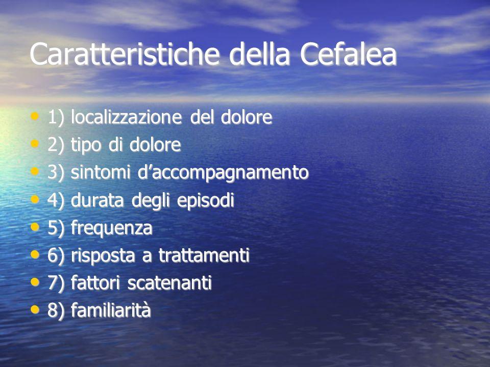 Caratteristiche della Cefalea