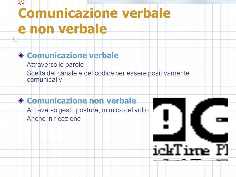 2/3 Comunicazione verbale e non verbale