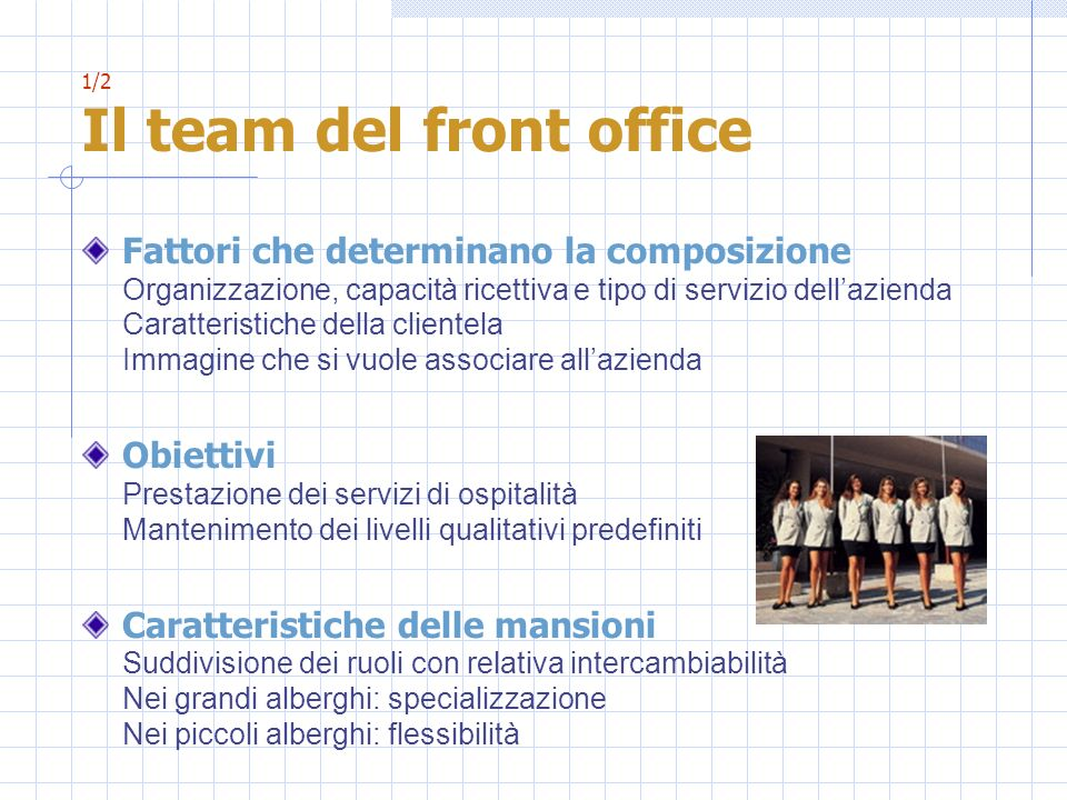1/2 Il team del front office
