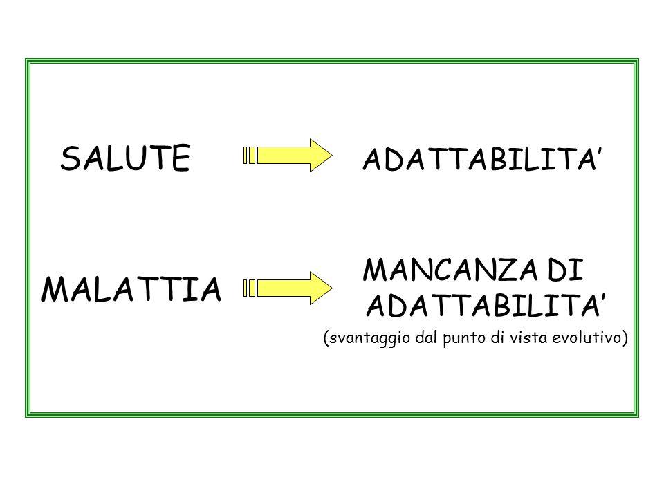 SALUTE ADATTABILITA' MALATTIA MANCANZA DI ADATTABILITA'