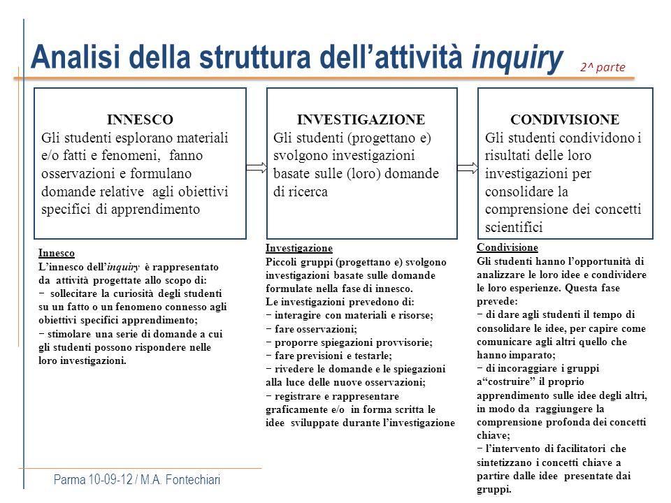 Analisi della struttura dell'attività inquiry