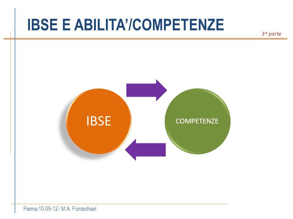 IBSE E ABILITA'/COMPETENZE