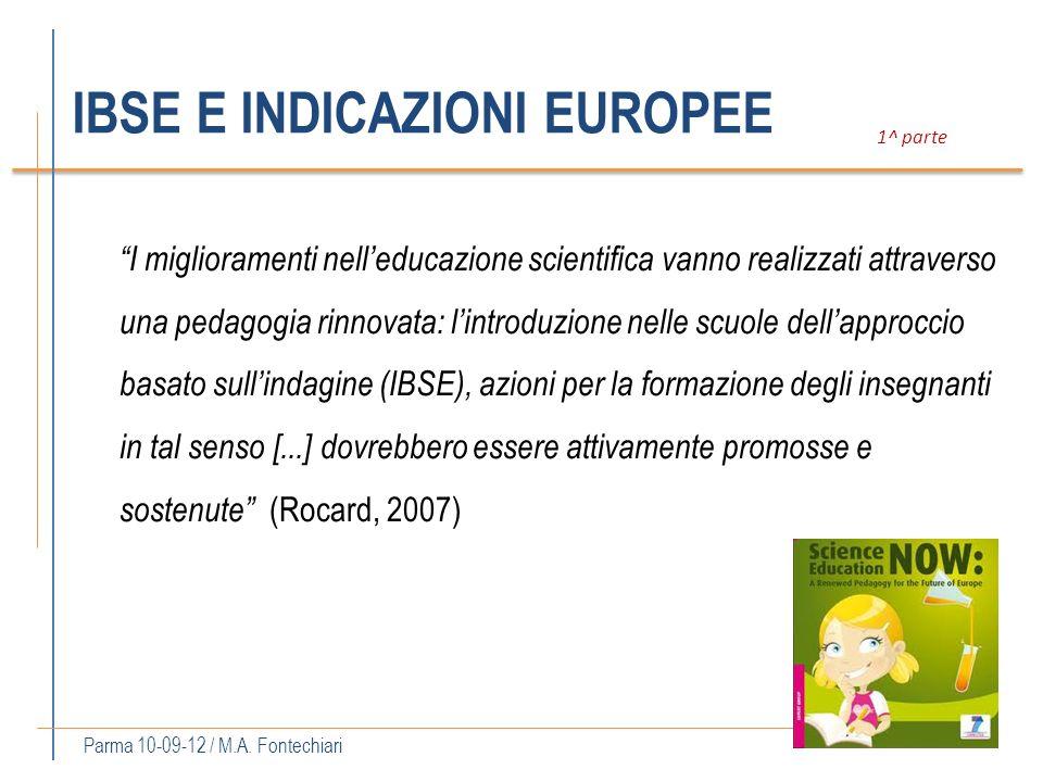 IBSE E INDICAZIONI EUROPEE