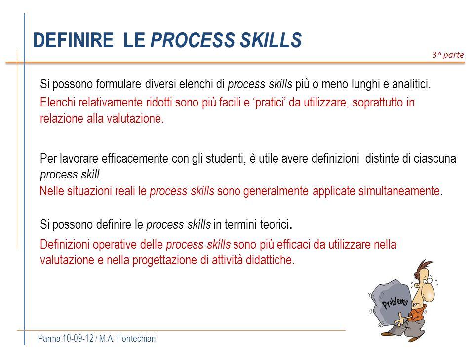 DEFINIRE LE PROCESS SKILLS