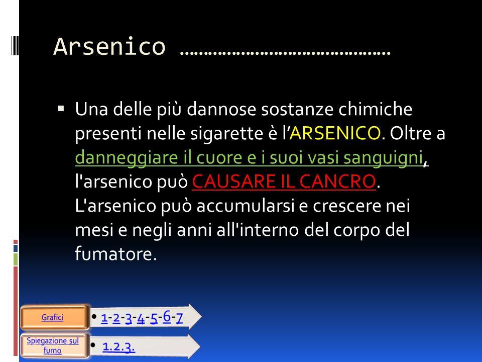 Arsenico ………………………………………