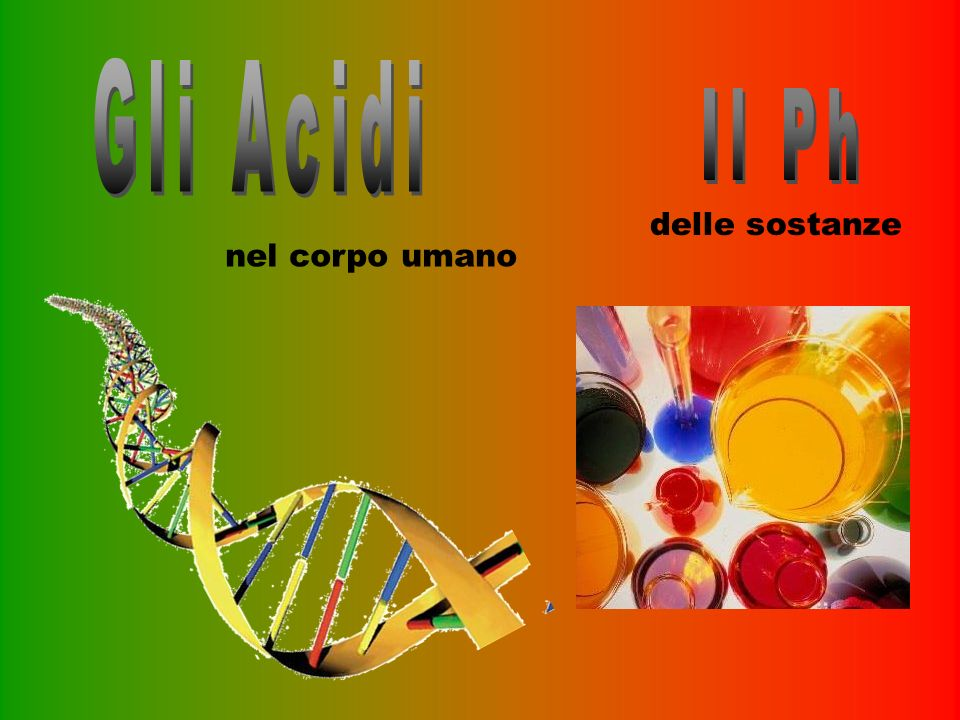 Gli Acidi Il Ph delle sostanze nel corpo umano