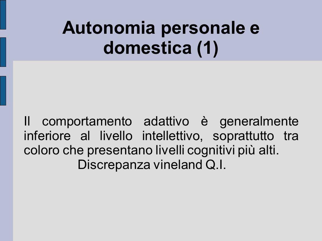 Autonomia personale e domestica (1)