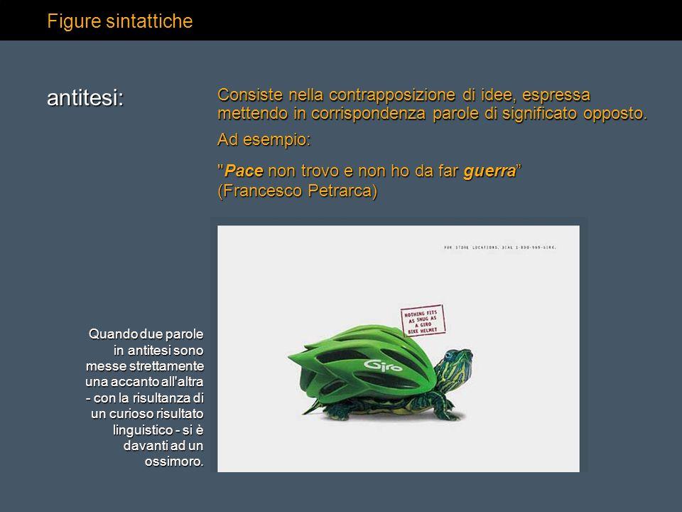 antitesi: Figure sintattiche