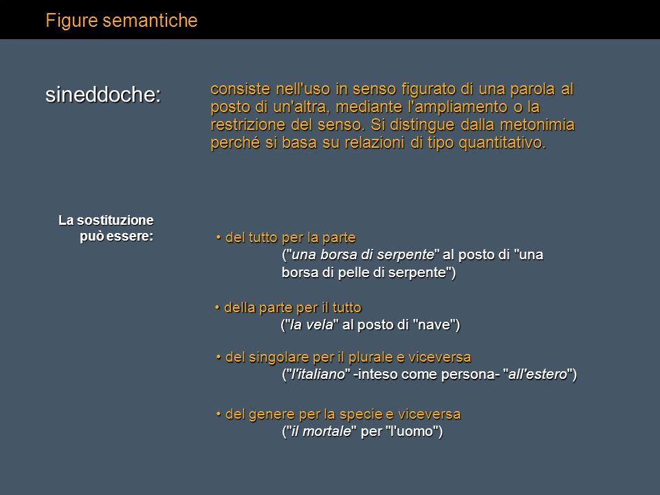 sineddoche: Figure semantiche