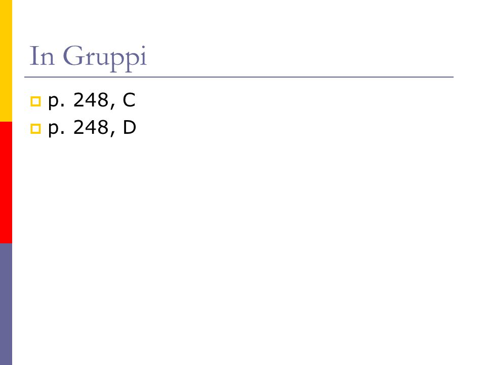 In Gruppi p. 248, C p. 248, D