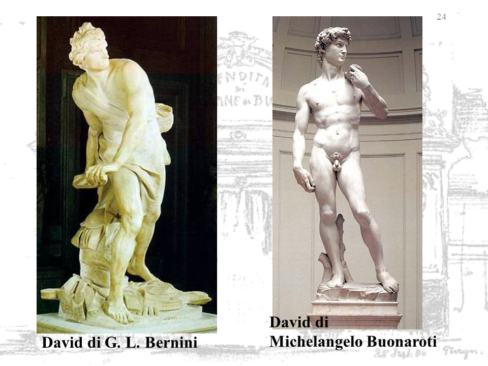David di Michelangelo Buonaroti David di G. L. Bernini