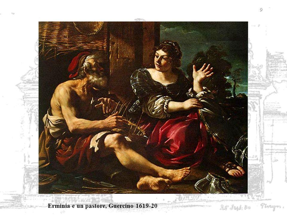Erminia e un pastore, Guercino 1619-20