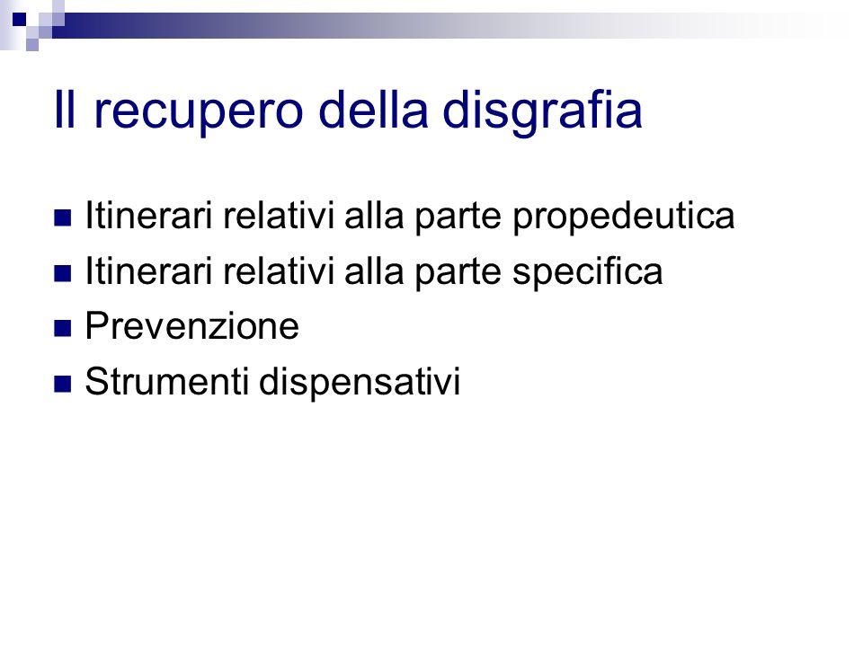 Il recupero della disgrafia