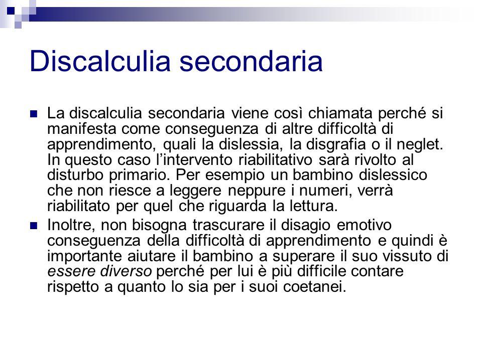 Discalculia secondaria