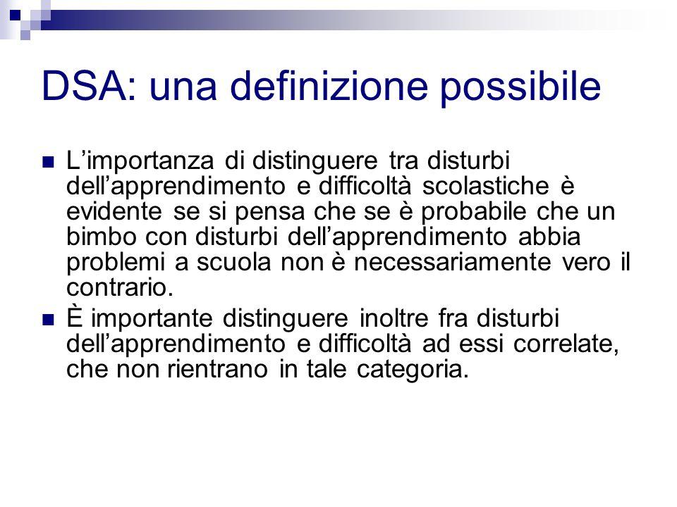 DSA: una definizione possibile