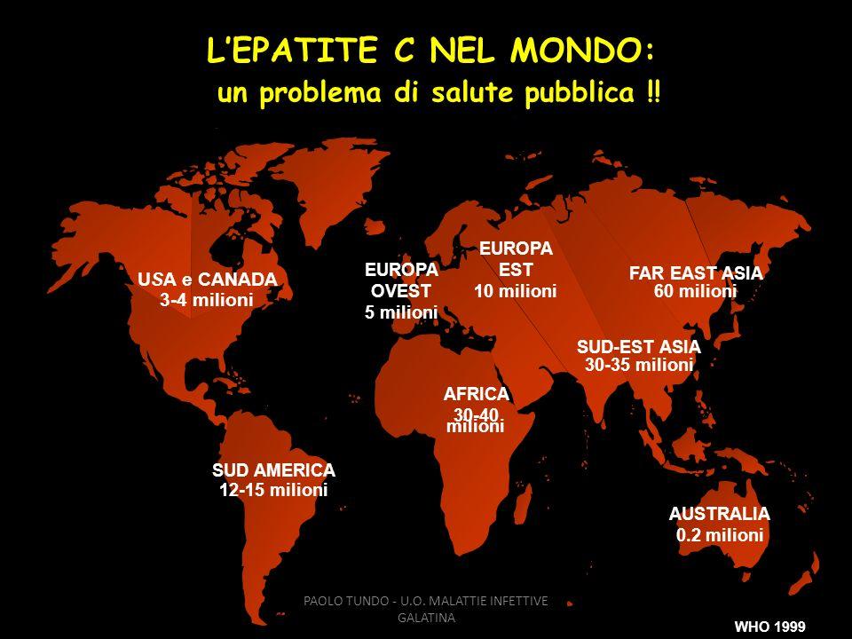 L'EPATITE C NEL MONDO: un problema di salute pubblica !!