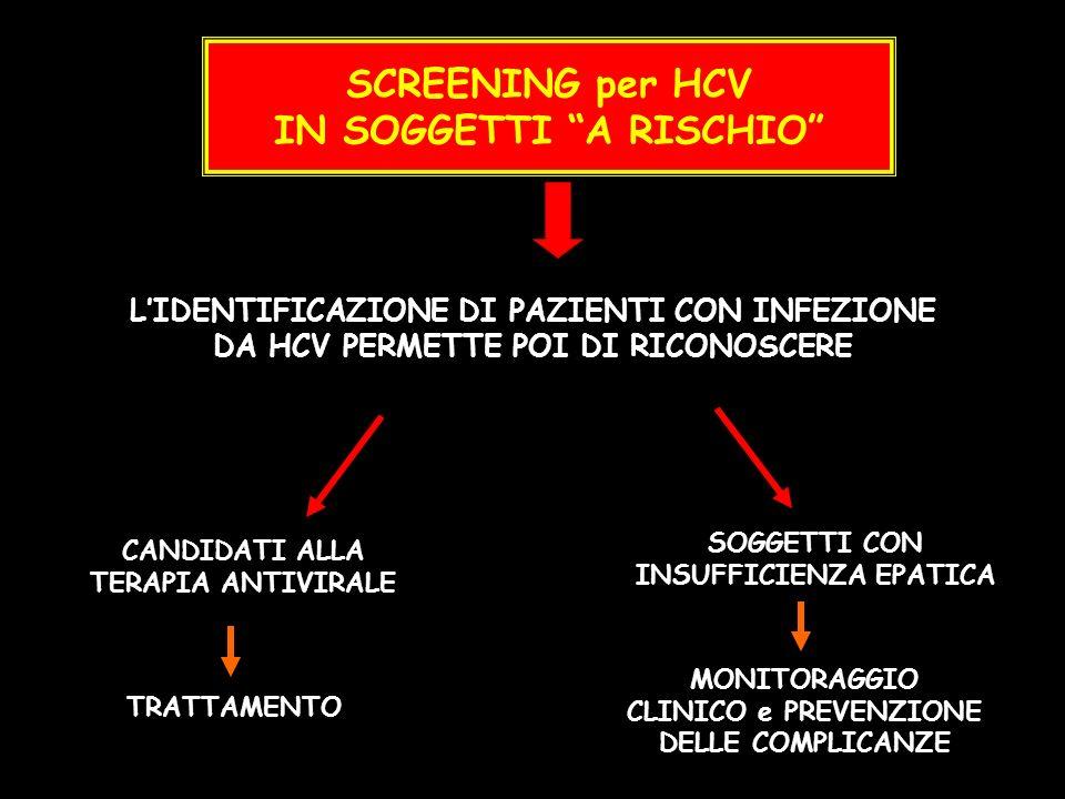 SCREENING per HCV IN SOGGETTI A RISCHIO