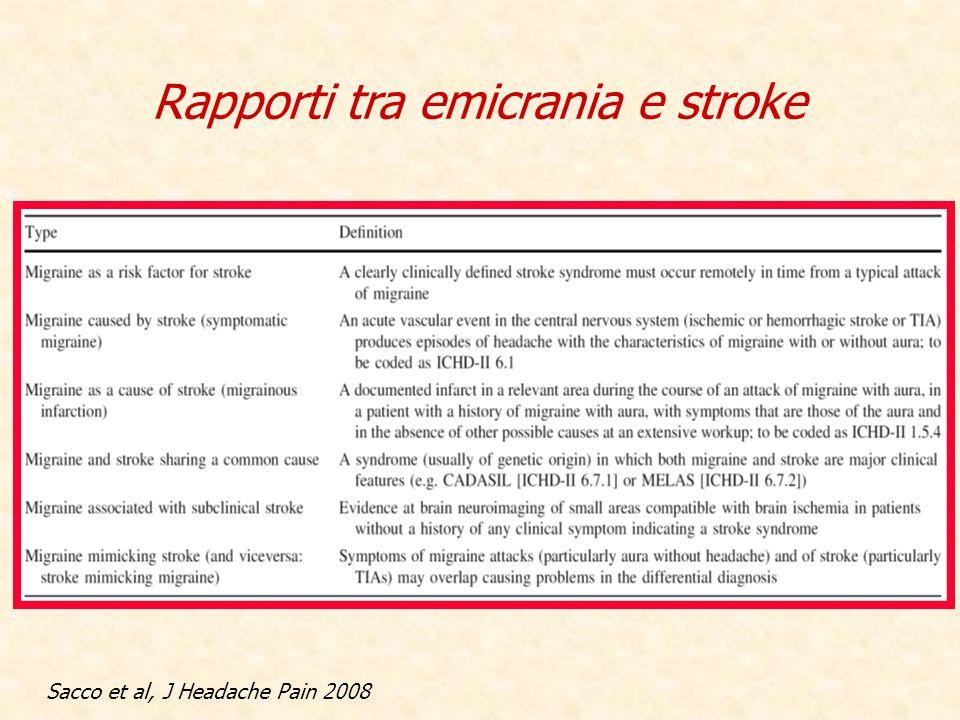 Rapporti tra emicrania e stroke