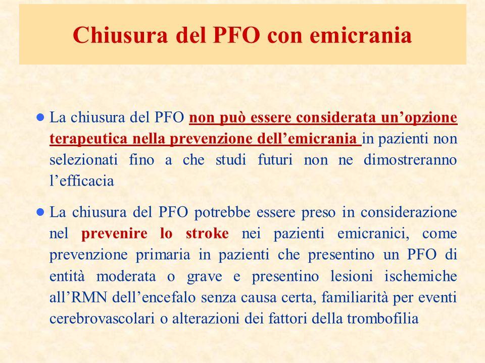 Chiusura del PFO con emicrania